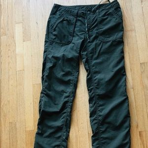 North Face olive green hiking pants